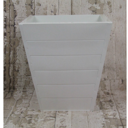White plank planter large