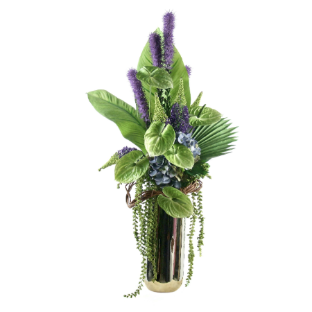 Green antherium arrangement