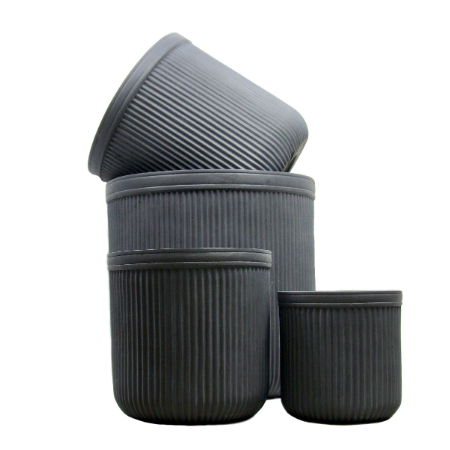 Grey planters set of 4