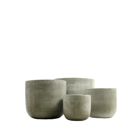 polished concrete planters