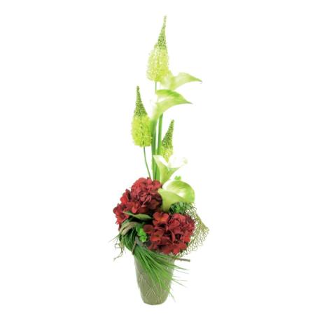 Red Hydrangea calla Lily