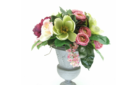 Green magnolias and peonies